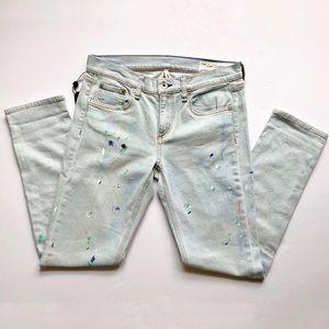 rag&bone NWT Dre Paint Splatter Skinny Jeans sz26